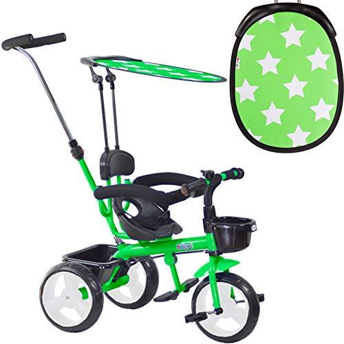 boppi 4-in-1 Dreirad. Kinderdreirad mit Sitz, Pedalen, Sonnenschutz und Aufbewahrungsmöglichkeiten