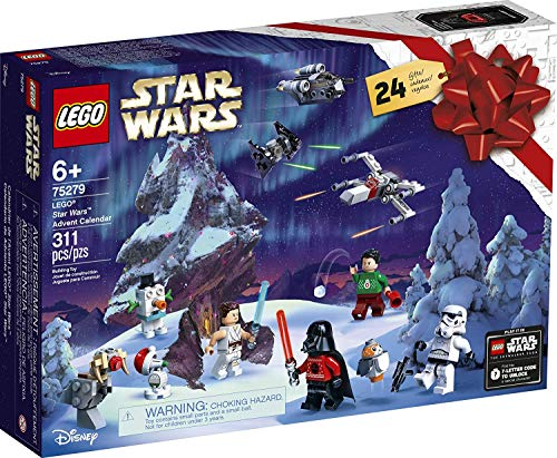 Lego Star Wars Advent Calendar 2020 Building Set, Fun Christmas Countdown Calendar with Star Wars Buildable Toys (311 Pieces)