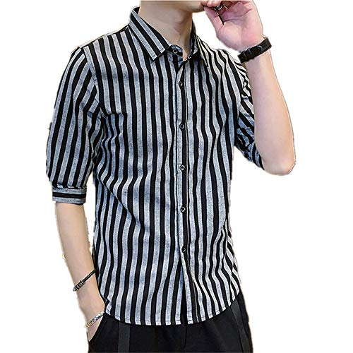 Preisvergleich Produktbild NOBRAND Herren Hemd,  kurzärmelig,  modisch,  passendes Top Top Top Top Top Top Top Top Gr. M,  Schwarz
