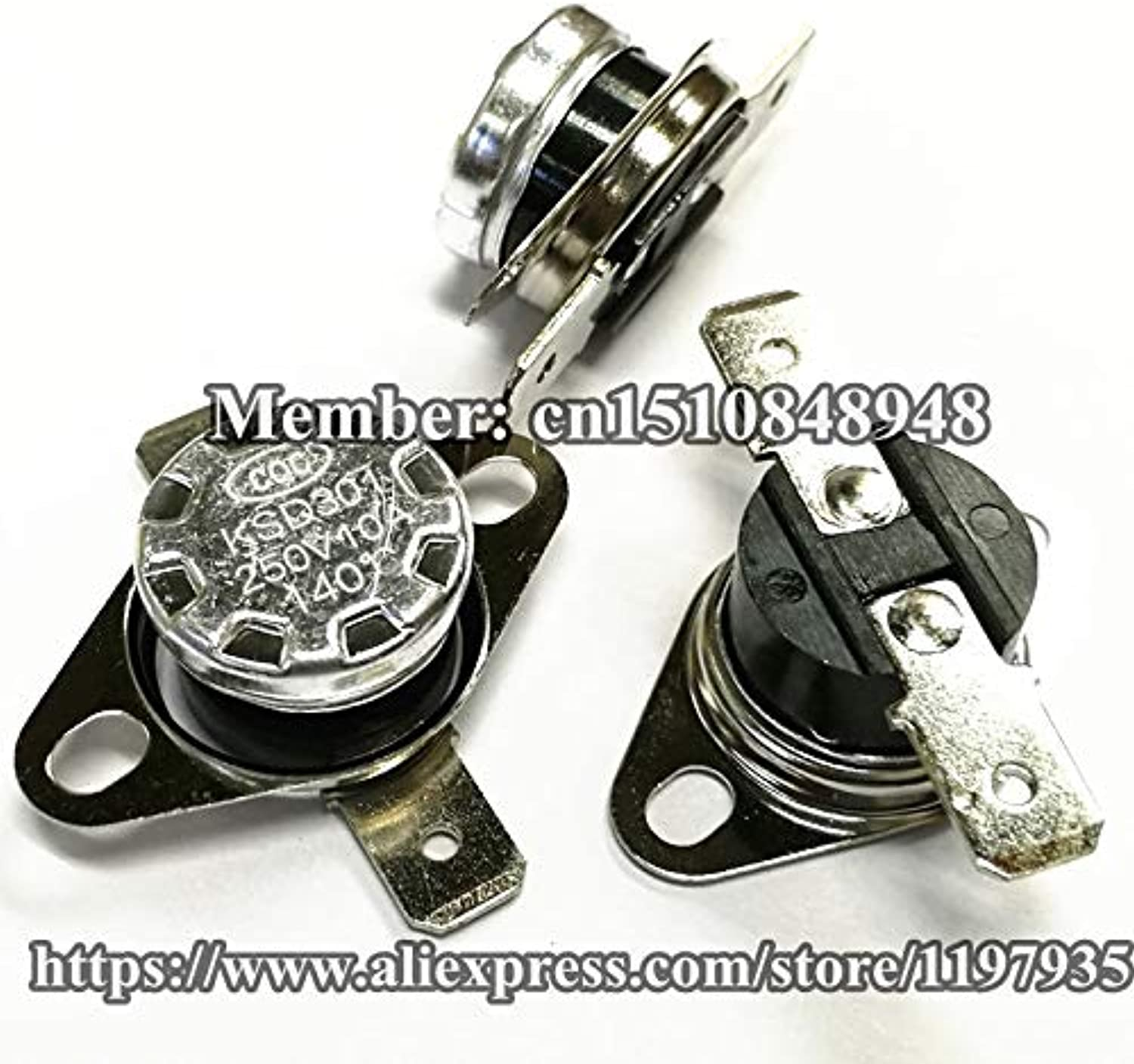 Thermostat Temperature Switch KSD301 140 Degrees 250V 10A 140 Degrees 140C Normally Closed