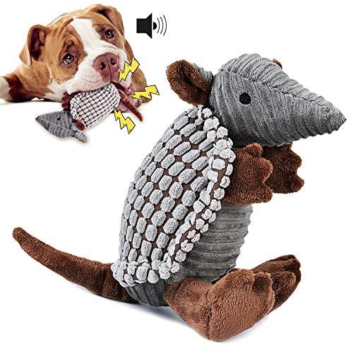 Legendog Dog Toys Puppy Toys,Interactive Stuffed Dog Chew Toys Dog Squeaky Plush Toys Armadillo Puppy Chew Toys Puppies Toys