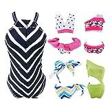 E-TING 5 Conjuntos Bikini Traje de Baño Vestir Ropa para muñeca de niña(Swim Style A)(muñeca no incluida)