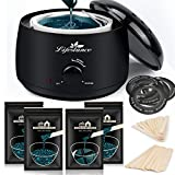 Lifestance Waxing Kit, L3 Wax Warmer Hair Removal for Women Men, Waxing Pot Professional Kit for Full Body, Legs, Face, Eyebrows, Bikini, Painless At-Home Waxing