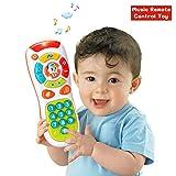 Attrinic - Telecomando per bambini, multifunzione, luci e musica, con telecomando a scatto e conta, ideale come regalo per bambini educativi per bambini per 1 anno, per bambini e ragazze