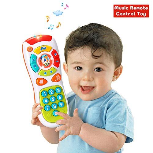 ACTRINIC Juguetes de control remoto para bebés con multifunción, luces y música, haga clic y conteo remoto mejores regalos para juguetes educativos para bebés de 1 año para niños y niñas