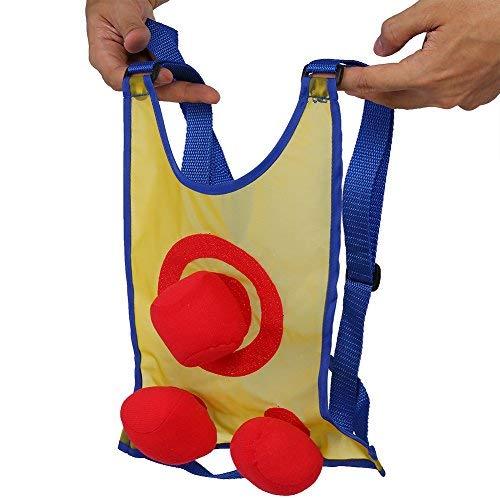 Alomejor Sticky Ball Weste Sticky Spielzeug mit Klettverschluss und 3 Bälle Wurfspiele für Kinder Beach Playground Backyard Spielen