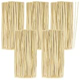 com-four® 500x Palillos largos de madera de bambú - Palos brochetas - Palillos largos de madera para hamburguesas en un juego, 20 cm (0500 piezas - 20cm)