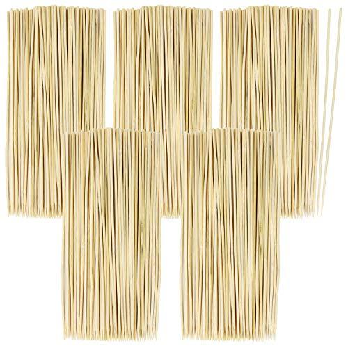 com-four® 500x Brochettes en bois de bambou - brochettes de 20 cm de long - brochettes de légumes dans un set (0500 pièces - 20cm)