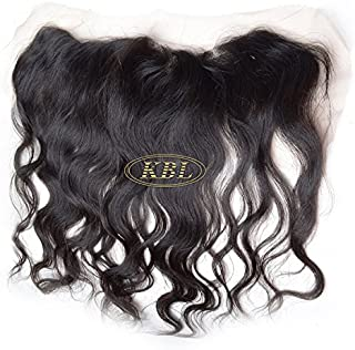 """KBL 5A 150% Density 13x3 Brazilian Virgin Hair Deep Wavy Free Part Lace Frontal Closure with Bleached Knots Can Be Dyed and Permed (20"""")"""