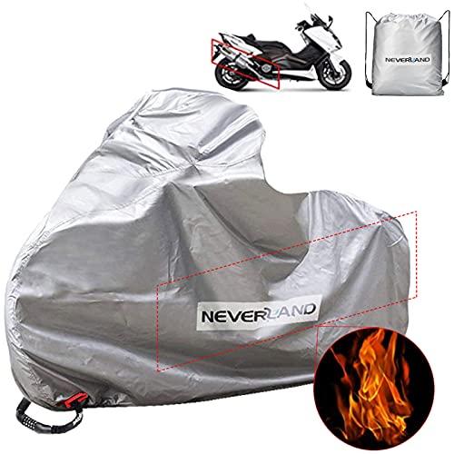 Funda para Moto NEVERLAND Cubierta de la Moto 300D Oxford Funda Protector Moto Impermeable Cubierta Protectora con Banda Reflectante a Prueba de Sol Lluvia Polvo Viento Nieve 230*100*140cm