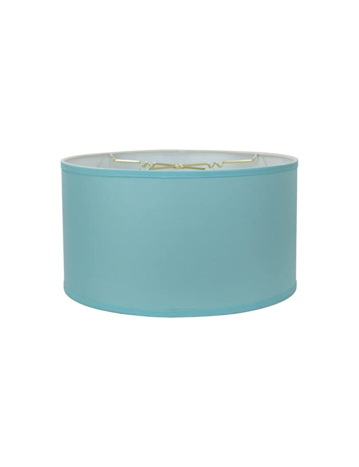 14x14x7 Premium Island Paridise Blue Hardback Drum Lampshade by Home Concept - Perfect for Floor or Larger Table Lamps - Pair with a Swag Cord for an Easy Pendant