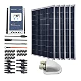 ACOPOWER 500 Watts 12/24 Volts Polycrystalline Panel Solar RV Kits with 40A MPPT LCD Charge...