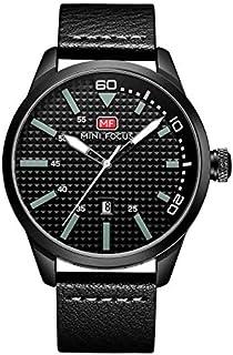 Mini Focus Mens Quartz Watch, Analog Display and Leather Strap - MF0021G.02