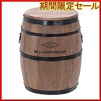 最短発送 品 限定在庫ですのでお早めに ブラウン 高さ40cm 不二貿易 樽型スツール 高さ40cm 天然木 ブラウン