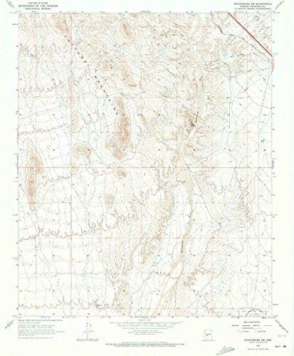 YellowMaps Wickenburg SW AZ topo map, 1:24000 Scale, 7.5 X 7.5 Minute, Historical, 1965, Updated 1973, 26.7 x 22 in - Polypropylene