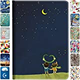 DuraSafe Cases For Apple iPad 5th / 6th Gen & Air 1st / 2nd Gen - 9.7' Flip Cover with Auto Sleep/Wake Function, Slim Profile & Adjustable Viewing Angle Stand - Night Sky