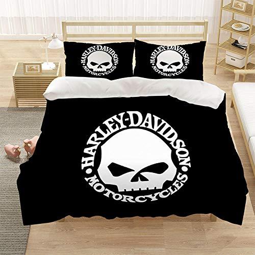 Bedclothes-Blanket Cubierta de la Cubierta de la Microfibra de Color 3D con la Cubierta de la Cremallera y el Cierre de la Cremallera (1 Cubierta del edredón + 2 Casas de Almohadas)-5_228 * 264cm