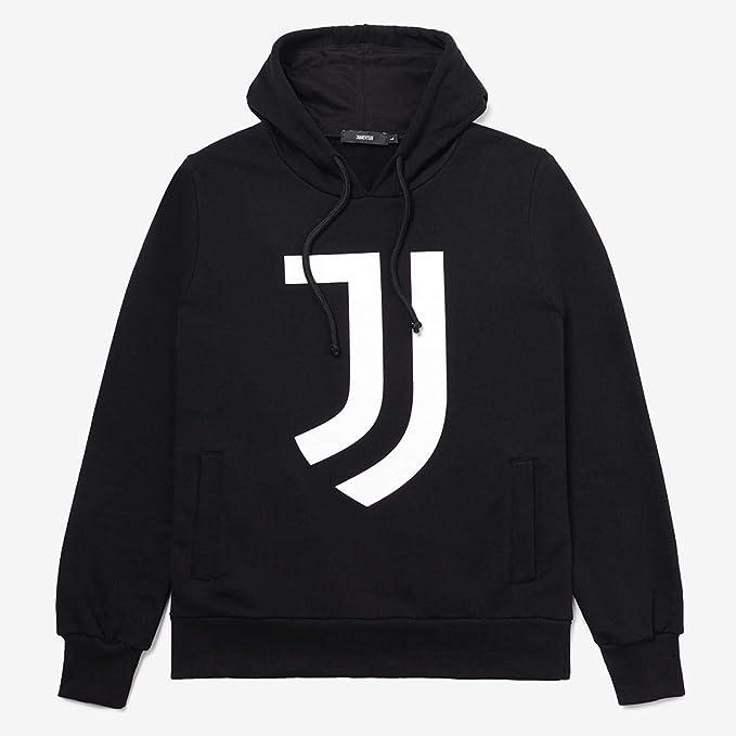 Juventus Felpa con Cappuccio - Hoodie Black - 100% Originale - 100% Prodotto Ufficiale - Uomo - Scegli la Taglia