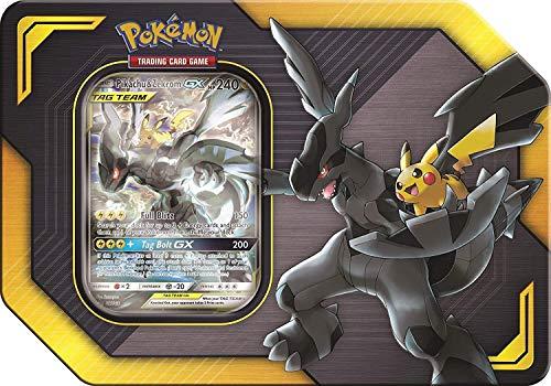 Lively Moments Carte Pokemon Tin Box Tag Team Pikachu & Zekrom, GX EN English Promo