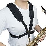 Adorence Cintura per sassofono imbottita, per sassofono, sassofono, per uomini e donne, per principianti e bambini, misura piccola, colore: nero