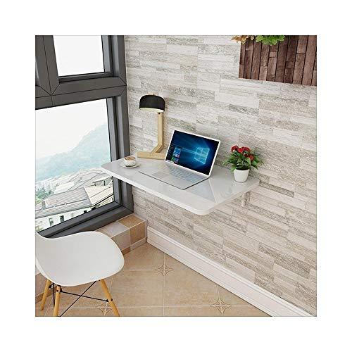 Klappbarer Wand-Schreibtisch - Klapptisch (Farbe : Weiß, größe : 60cm*50cm)