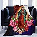 vipsung Our Lady of Guadalupe Virgin Mary Throw Blanket Ultra-Soft Micro Fleece Blanket Movies Blanket for Bed Couch Living Room