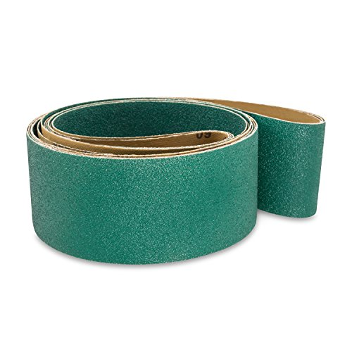 Red Label Abrasives 2 1/2 X 60 Inch 60 Grit Metal Grinding Zirconia Sanding Belts, 6 Pack