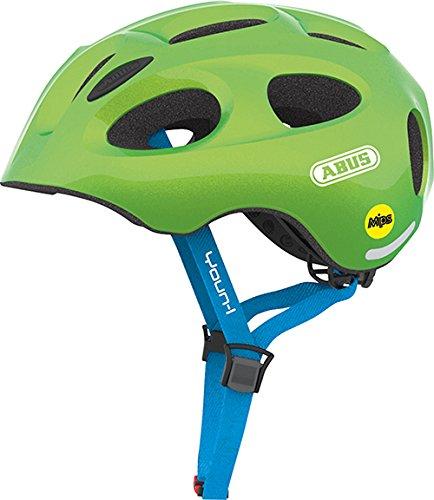 ABUS Youn-I MIPS Kinderhelm - Moderner Fahrradhelm für Kinder - für Mädchen und Jungen - 38814 - Grün (funkelnd), Größe M