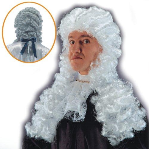 Perruque de Roi Juge - deguisement - Synthétique - 60 cm - Blanc - 254
