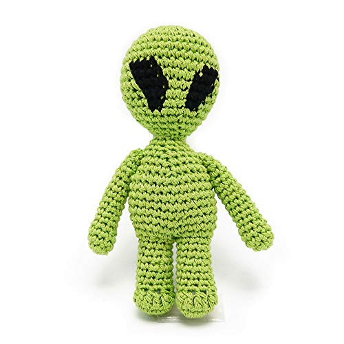 Cotton Crochet Squeaky Dog Toy - Alien