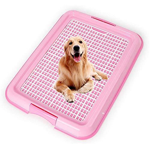 Volwco Kleine Hundetoilette, Abnehmbare Waschbare Junge Hunde Welpen Training Mesh Töpfchen Tablett Halter - Ideal Für Den Innengebrauch Zu Hause (Rosa)