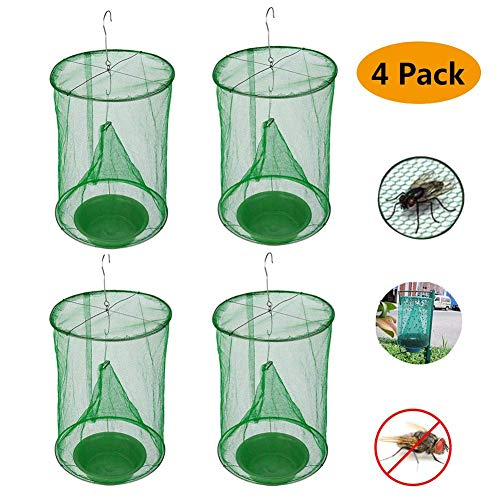 Ranch Fly Trap | Most Effective Trap Ever Made with Fishing Apparatus | Food Bait Flay Catcher for Outdoor Family Farms 4