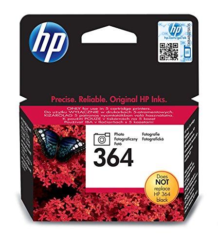 HP 364Photo Original Ink Cartridge Tintenpatrone für Drucker (Foto schwarz, schwarz, Standard, 5–80%,-40–70°C, 5–50°C)
