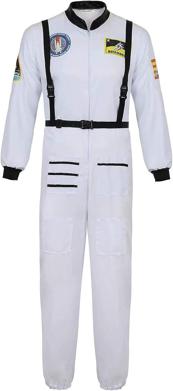 Disfraz Astronauta Adulto para Hombre Halloween Carnaval Americano Cadete del Espacio Cosplay