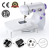 Mini Portable Sewing Machine 2019 Upgrade Double Speed Control Double Thread Needle Electric
