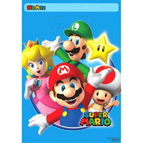 Super Mario 8STK–Bolsa de Fiesta–Regalo Bolsas de plástico–Loot Bags