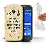 Hülle Für Samsung Galaxy Ace Style Schule der Magie Film Zitate Right und Easy Design Transparent Dünn Weich Silikon Gel/TPU Schutz Handyhülle Hülle