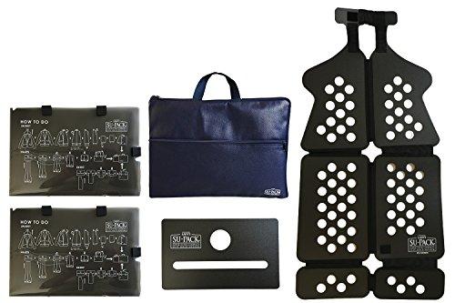 LADY'S SU-PACK Clean NavyBlue (レディース スーパック クリーン 抗菌・消臭 ネイビーブルー)女性用スーツを4分の1にコンパクト収納。世界初特許ホルダーでバッグやキャリーケースに入る 世界最小級 ガーメントバッグ 5点セット