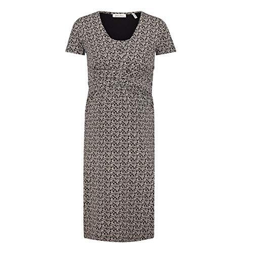 Queen Mum Dress Jersey Nurs SS AOP Colombo Vestido, Negro (Black P090), 36 (Talla del Fabricante: X-Small) para Mujer