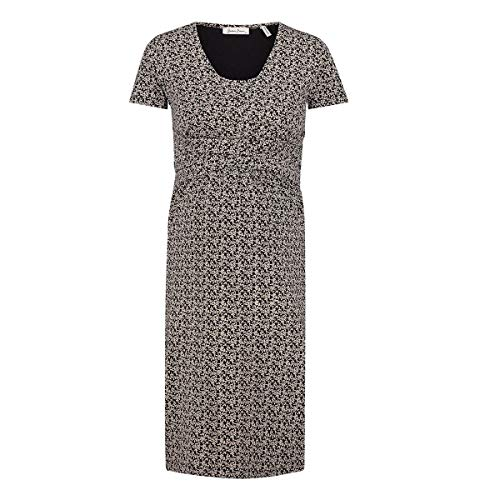 Queen Mum Dress Jersey Nurs SS AOP Colombo Vestido, Negro (Black P090), 40 (Talla del Fabricante: Medium) para Mujer
