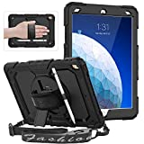 SEYMAC for iPad Air 3 Case 2019, Shockproof Full Body Protective Case