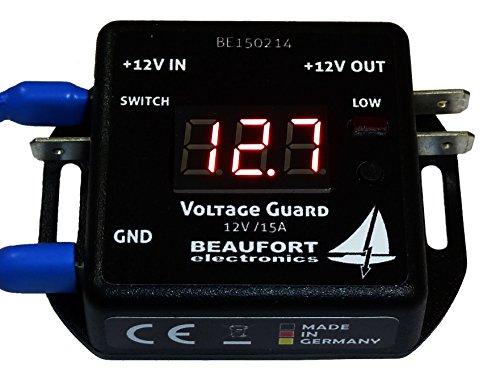BEAUFORT electronics Programmierbarer 12V Batteriewächter mit Display