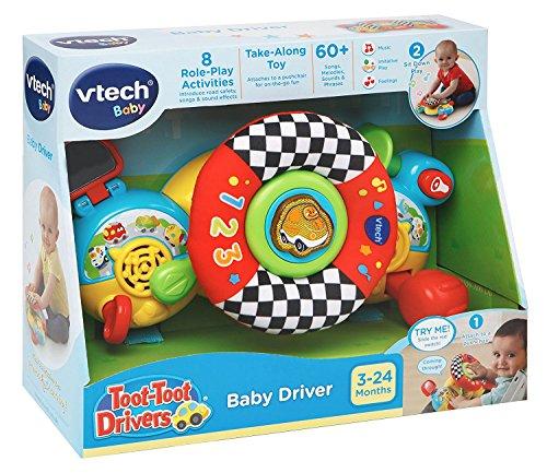 VTech Toot Toot Drivers Baby Drivers, Juguete Interactivo para Cochecito, Juguete de rol con Sonidos y música, Juguetes de Aprendizaje para bebés, Juguetes para niños pequeños y niñas de 3 a 24 Meses