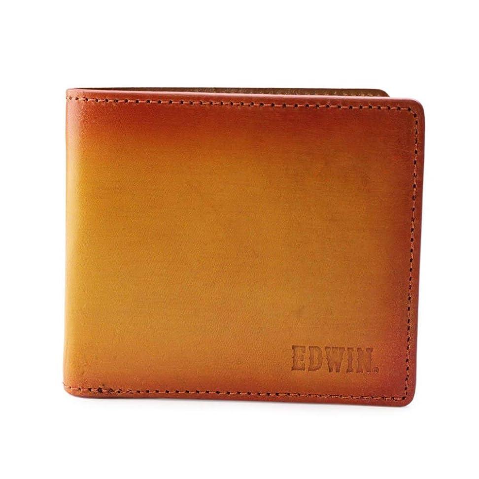 加入わかりやすい支援[エドウィン] イタリアンレザー シャドーシリーズ 二つ折り財布 [0510453] M