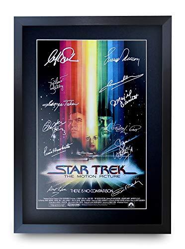 HWC Trading Star Trek The Motion Picture A3 Gerahmte Signiert Gedruckt Autogramme Bild Druck-Fotoanzeige Geschenk Für Filmfans