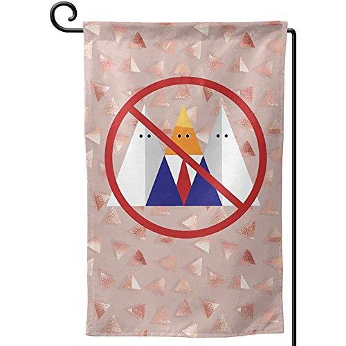 N/A Kein Trumpf kein KKK-Garten-Flaggen-doppelseitiger, dekorativer Kleiner Flaggen-Yard-Rasen-Patio des Feiertags im Freien 12,5 * 18 Zoll