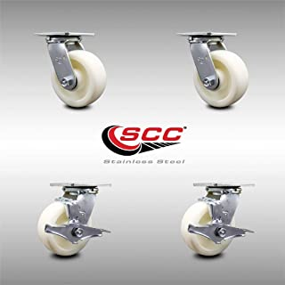 Color : Without brakes, Size : 2 inch 4 pieces MUMA 4Pcs Heavy Duty 500kg M16x30mm PU Swivel Castor Wheels Trolley Furniture Caster Replacement