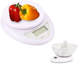 Mengshen Digital Kitchen Scale for Food Home Steelyard 11lb/5kg (1g) Portable Gram Scale Ultra Slim Weigh Snacks Liquids F...
