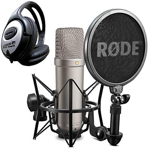 Rode NT1-A Juego condensador Micrófono + Auriculares de diadema Keepdrum)