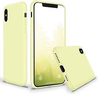 coque iphone xs jaune pale
